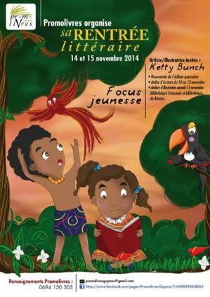 Création de l'affiche rentrée littéraire en Guyane,novembre 2014