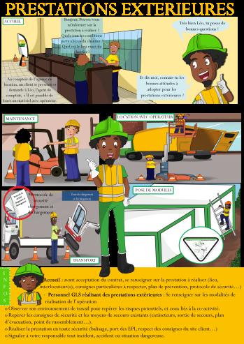 Création BD explicative ,entreprise GLS Guyane