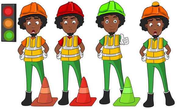 Création Mascotte ,entreprise GLS Guyane